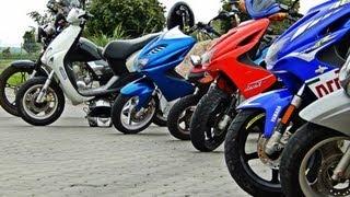 Zlot skuterów/motorowerów - Skutery Mazowsze & ŁST - Łosice 15 Września - Przejazd przez miasto