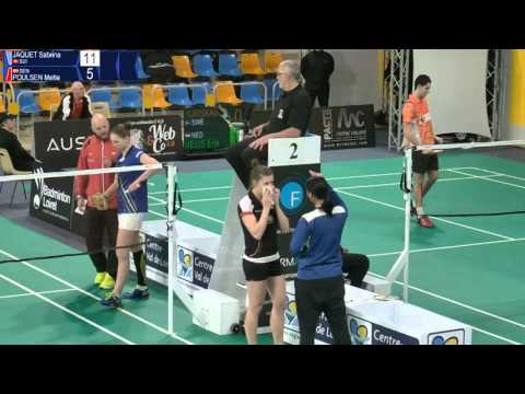 Sabrina Jaquet vs Mette Poulsen (WS, R32) - Orleans Intl. 2016