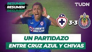 Resumen y Goles Cruz Azul 3 - 3 Chivas | Liga MX Femenil -  Apertura 2019 - Jornada 9 | TUDN