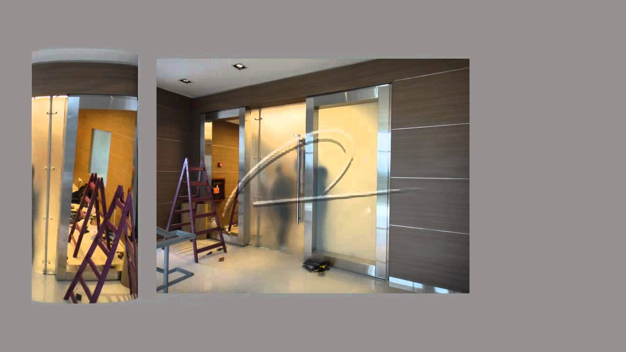Montaje de cristales laminados y puerta de cristal for Cristales para puertas de comedor