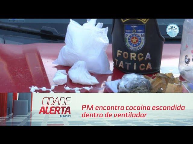PM encontra cocaína escondida dentro de ventilador e pote de arroz