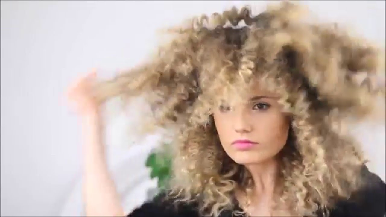 How To Make Straight Hair Into Fluffy Zig Zag Texture