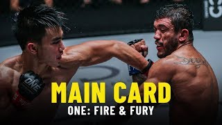 ONE: FIRE & FURY Main Card Highlights