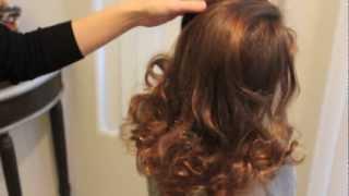 Repeat youtube video 靴下!をつかって巻き髪 ソックカール no-heat sock curls