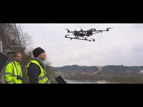 UAV- / Drone-based civil engineering – surveying of a slope and rock stabilization