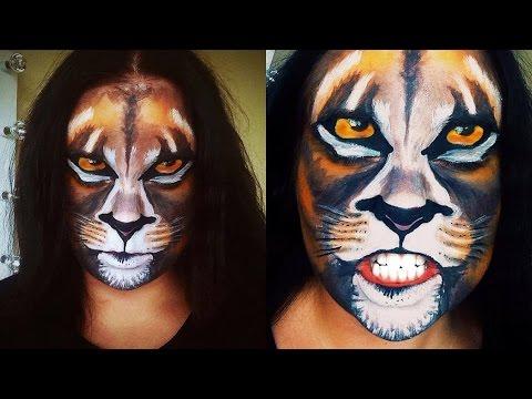 Lion Makeup, Face Paint Tutorial
