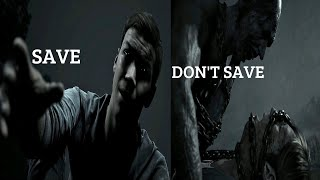 LITTLE HOPE - Save Angela vs DON'T Save Cutscene (4K Ultra HD) Horror Game Dark Pictures Anthology