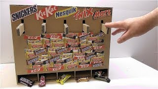 How to make a Dispenser for chocolate Nesquik Snickers Mars Twix Kit Kat