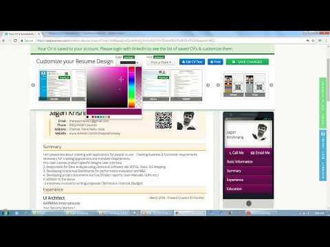 Responsive CV Resume Maker from LinkedIn - Chrome Web Store