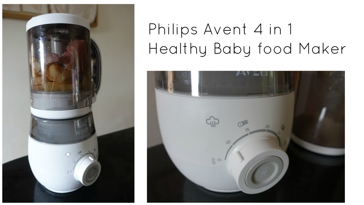 philips avent 4 in 1 healthy baby food maker youtube. Black Bedroom Furniture Sets. Home Design Ideas