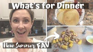 WHAT'S FOR DINNER // CROCKPOT SHRIMP BOIL!!!