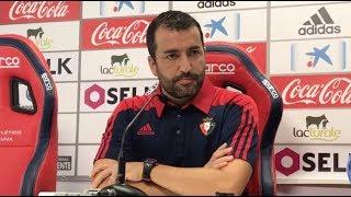 Diego Martínez. Previa Osasuna-Sporting