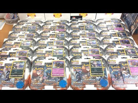 Burning Shadows Triple Pack Blisters CASE Opening!