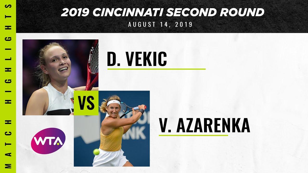 Victoria Azarenka vs. Donna Vekic | 2019 Western & Southern Open Second Round | WTA Highli