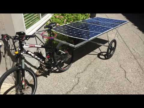 Solar powered bike without batteries