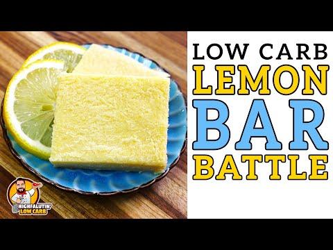Low Carb LEMON BAR Battle 🍋 The BEST Keto Lemon Bars Recipe! - Highfalutin' Low Carb
