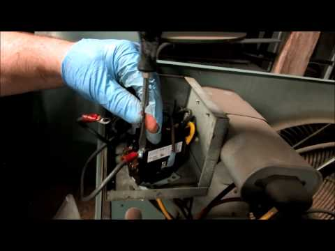 hvac  old bryant condenser still working,bad contactor