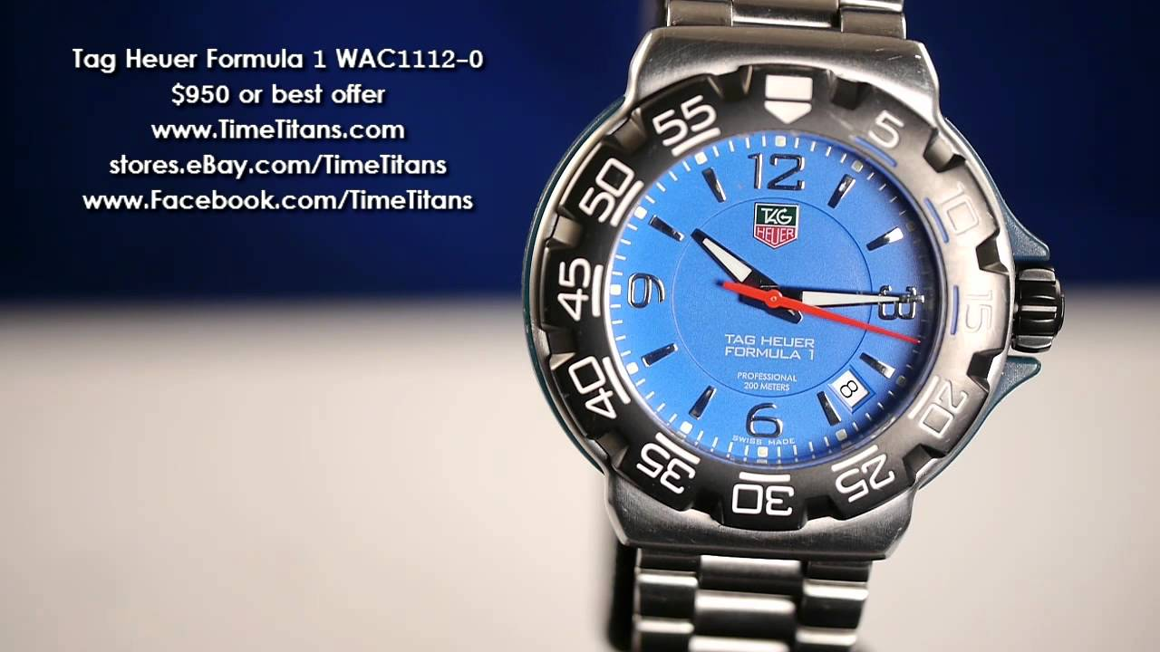 Tag Heuer Formula 1 Wac1112 0 Blue