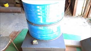 Печь слобожанка длительного горения с подачей горячего воздуха.