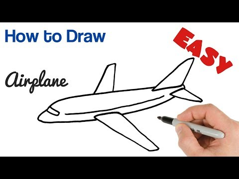How To Draw Airplane Easy Step By Step For Beginners Youtube