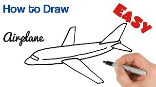 How to Draw Airplane Easy step by step for beginners screenshot 4