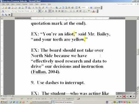 Overview of Grammar: 14 Rules to Make Writing More Effective