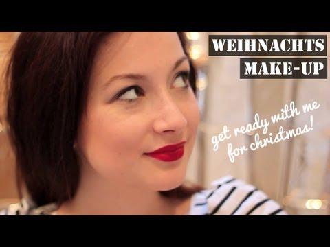 GET READY WITH ME FOR CHRISTMAS! Rote Lippen Look