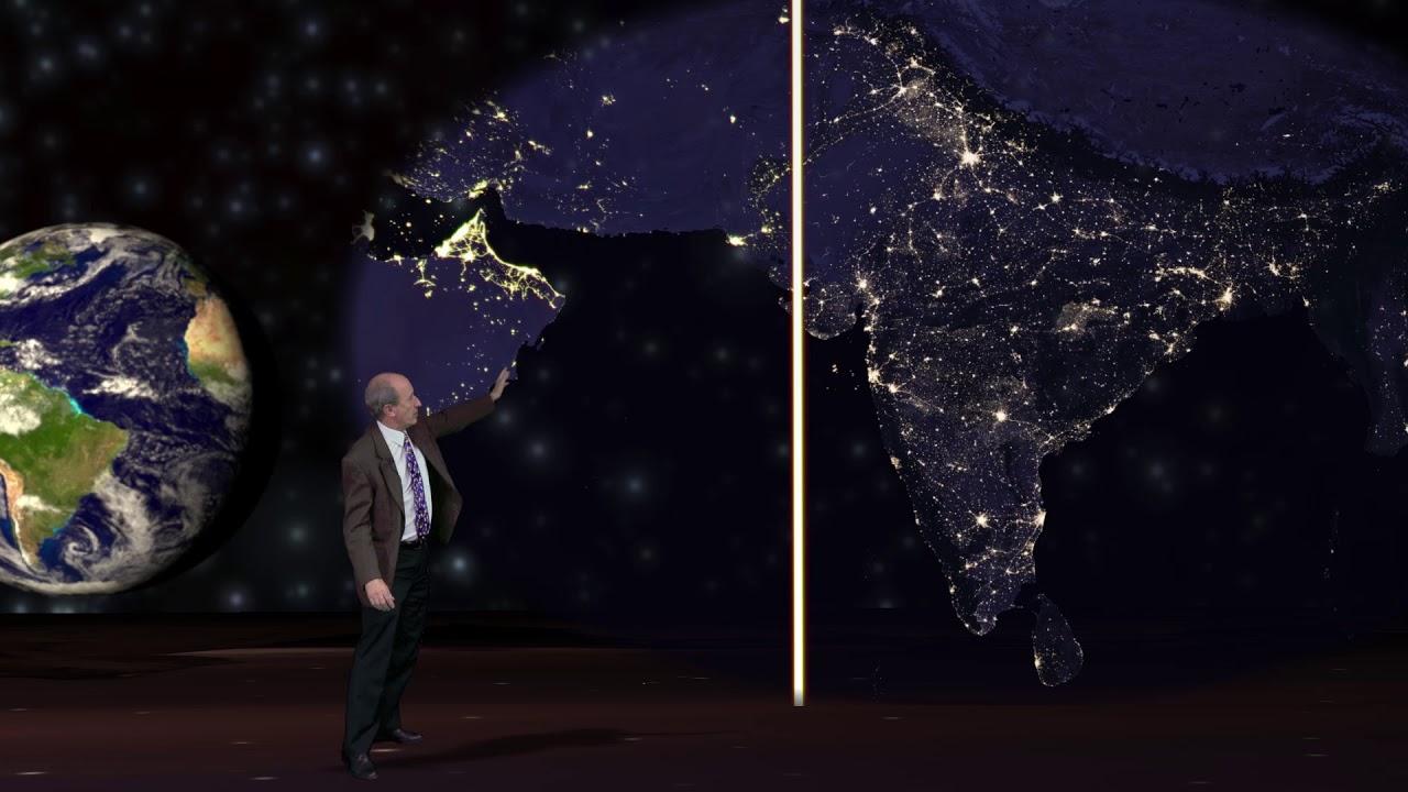 Evaluar la economía de Asia meridional desde el espacio exterior
