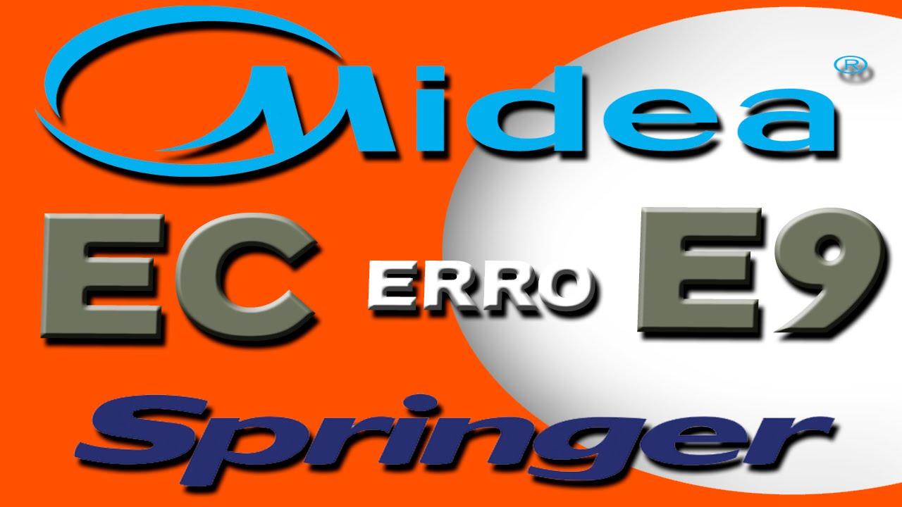 Código de Erro EC e E9 do Midea e Springer