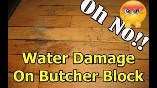 How to get water rings out of butcher block wood countertop