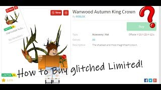 How to Obtain the WanWood Autumn King Crown *glitched item* -ROBLOX