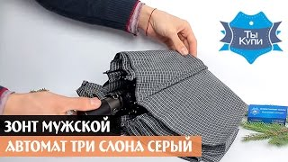 Зонт мужской автомат ТРИ СЛОНА серый купить в Украине. Обзор