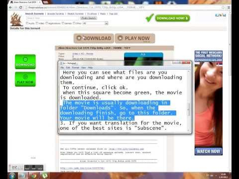 How to download movies and translation for free