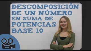 Descomponer un número en una suma de potencias de base 10