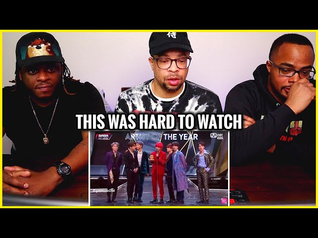 This Was Hard To Watch | BTS MAMA 2018 Artist of the Year Speech (REACTION)