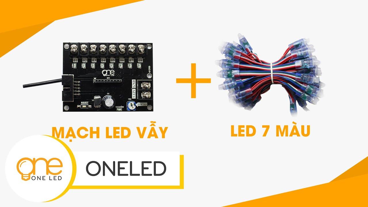 Hướng dẫn điều khiển led 7 màu RGB với mạch LED vẫy Oneled