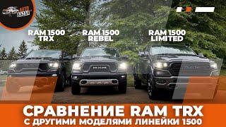Сравнение RAM TRX с другими моделями линейки 1500