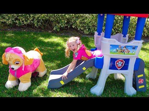 Настя спасает игрушки патруль щенячий