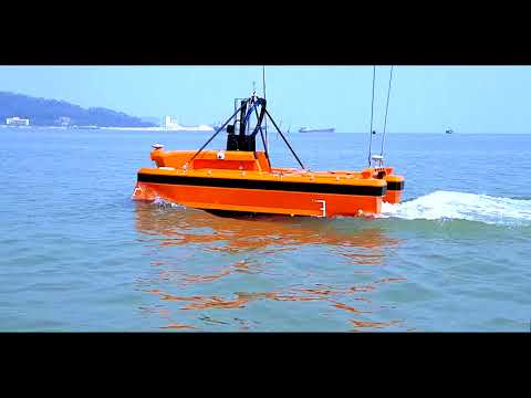Oceanalpha M40 USV for oceanographic survey with multi beam sonar