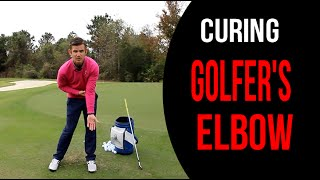 How To Cure Golfers Elbow  1 Simple Drill