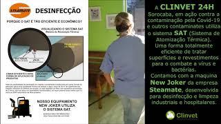 Desinfecção da clinica veterinária / Projeto SAT ClinVet 24H Sorocaba