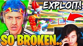 NINJA & BUGHA *SHOCKED* Spectating PROS Use *BROKEN* RAMP EXPLOIT! (Fortnite)
