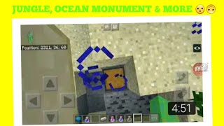 MINECRAFT PE: JUNGLE, OCEAN MONUMENT, CORAL REEF, RUINS ANDERE SHIPWRECKS AT SPAWN! | Ch gol
