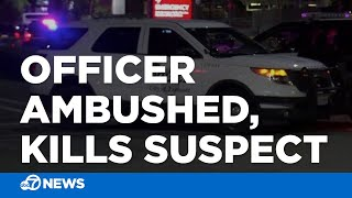 Suspect killed after 'ambush' attack on officer in Fremont, police say