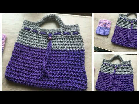 Simple Easy Crochet Bag Crochet Purse Diy Handmade Bag