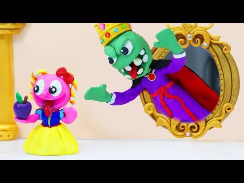 TINY SNOW WHITE FAIRY TALE - Action False Stop Motion Animation Cartoons