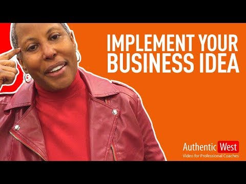 How to implement your business idea with Sylvia Henderson  |  Brighton West Video