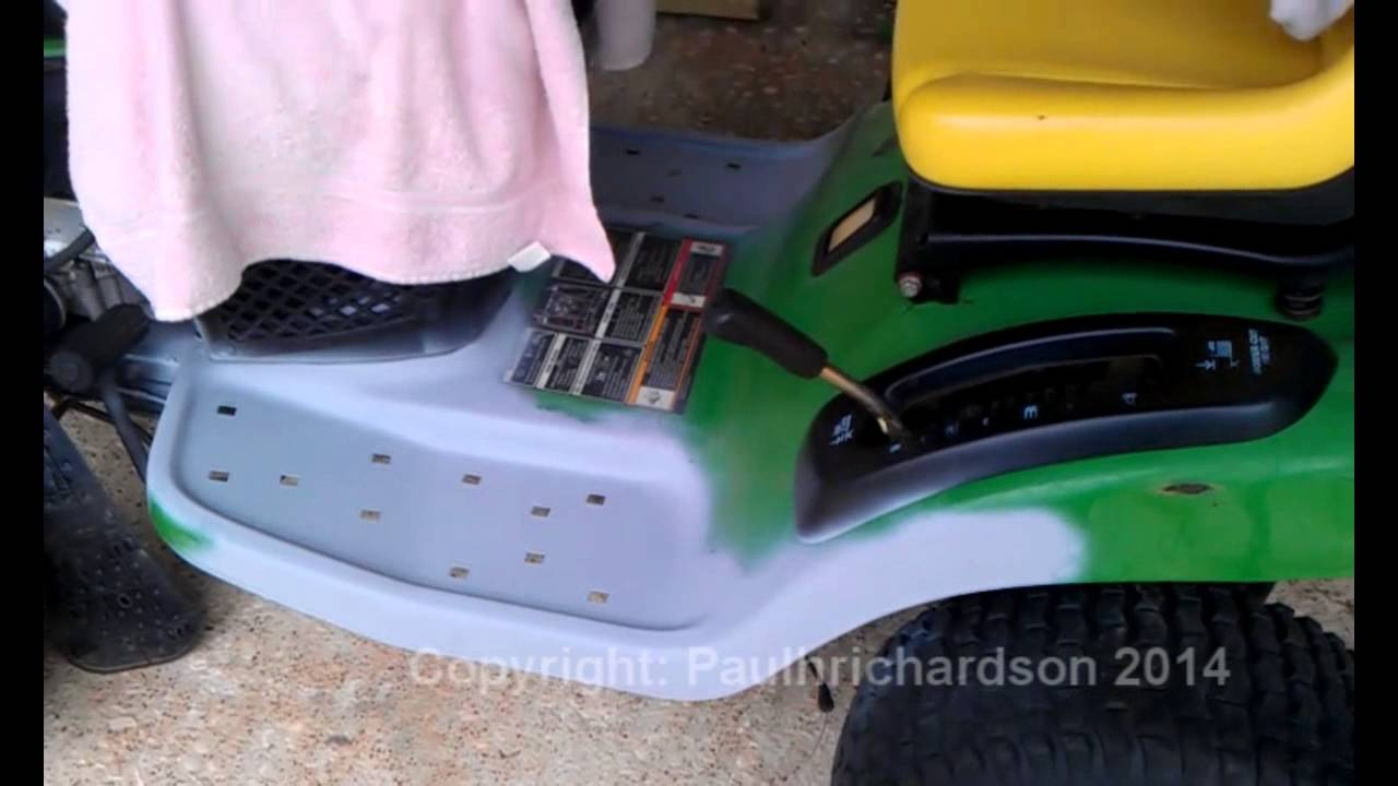 Tractor Mowing Painting : Start to finish painting my john deere mower youtube