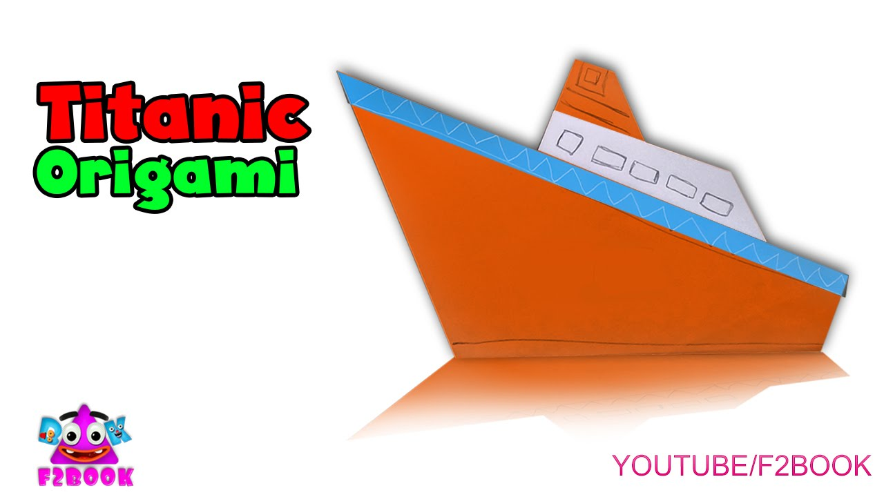 Papercraft Paper Steam Boat || Origami for kids Craft Art || F2BOOK Video Tutorial 165