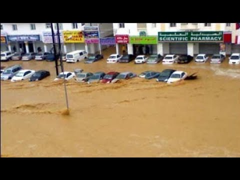 Heavy 😱rainfall 🌧️ in Salalah Oman flood/cyclone in Salalah Oman(2020)